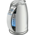 Cuisinart PerfecTemp Cordless Electric Kettle, Stainless Steel, 1.7 L