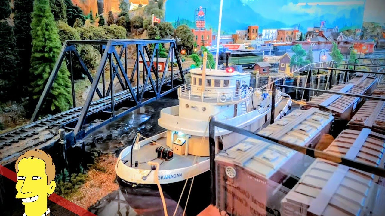 Miniature steamship and railway at Peachland Museum