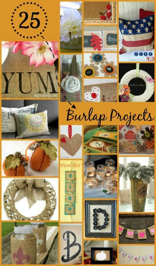 25 Fall Crafts with Burlap Fabric - FiberArtsy.com