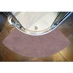 (Large) - Cazsplash Luxury Quadrant Stone Colour Curved Shower Mat (Large)