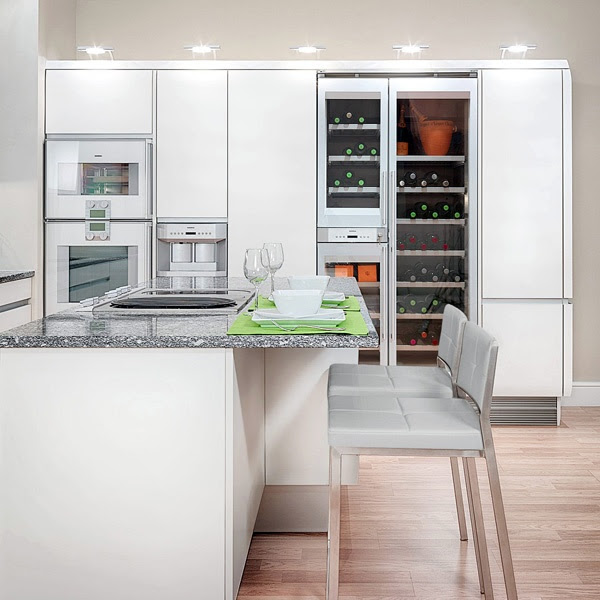 Choose fresh kitchens cool colors - delicate, bright ...