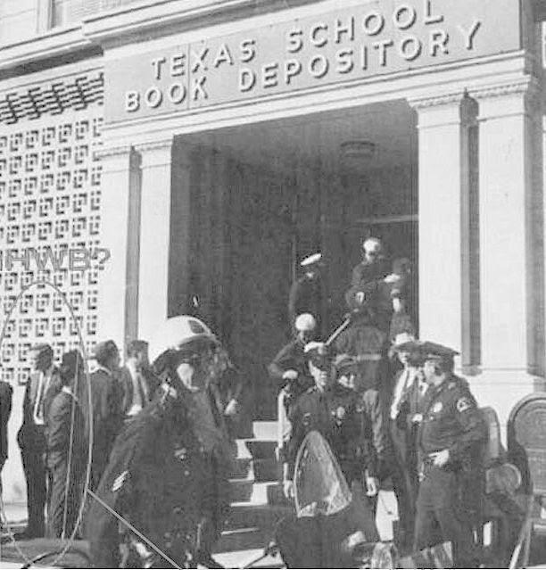Bush outside Texas School Book Depository?