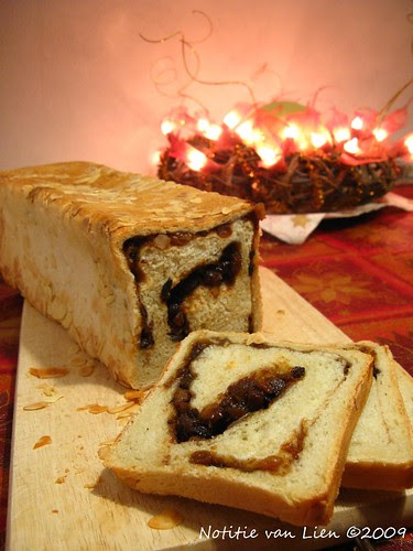 Bread with a Christmas swirl