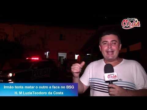 Orós: Irmão tentar matar o próprio irmão a   facadas no bairro São Geraldo (BSG) , veja a reportagem e entenda o caso