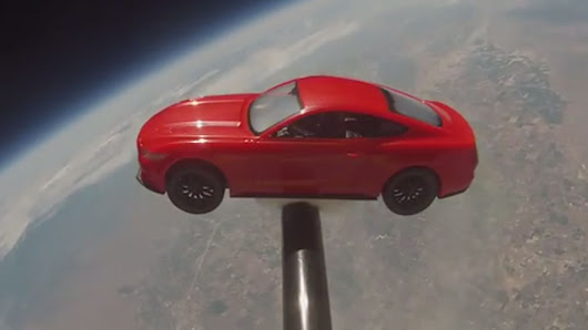 Ford Mustang takes out of this world trip