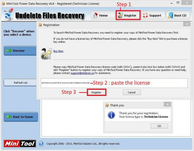 Minitool Power Data Recovery crack and Serial Key Free