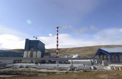 Usina Térmica de Santa Cruz, concentra el reclamo de la UOCRA. Foto Opi Santa Cruz.