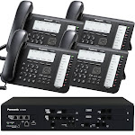 Business Phone System by Panasonic: NS700 Bundle with 4 IP Phones - 1 Year of Dial Tone Service Included