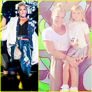 Pink Rocks Out With Daughter Willow at Kaaboo Music Fest!
