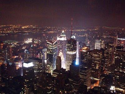 new york city skyline at night wallpaper. new york city skyline night.