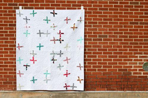 Nordika Wonky Crosses Quilt by Jeni Baker