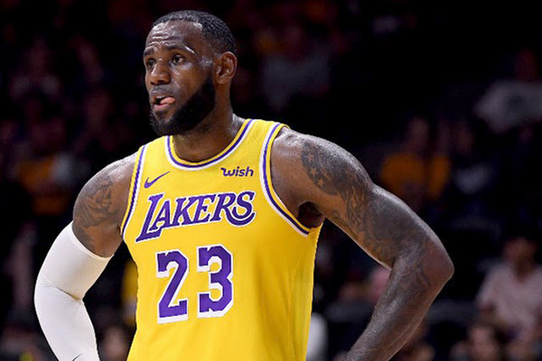 2589672a6c68 LeBron s exhibition debut spoiled as Nuggets rout Lakers