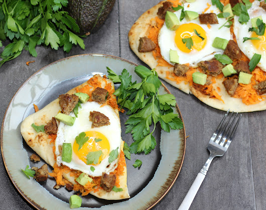 Avocado Egg & Sausage Flatbread