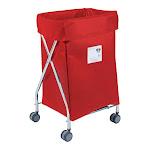 Narrow Collapsible Hamper with Red Vinyl Bag, 5 Bushel Capacity