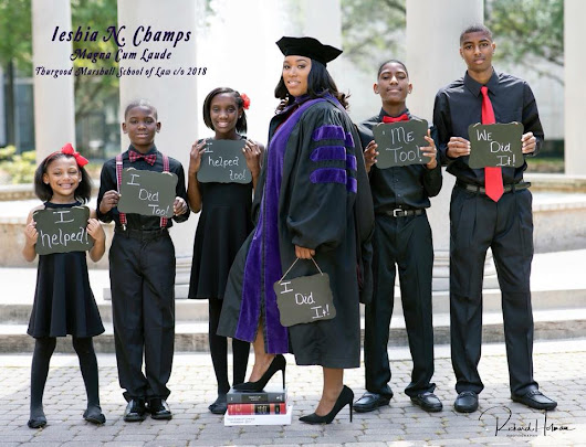 Onetime high school dropout and single mom celebrates her law school graduation in viral photo