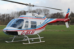 G-BXAY - 1986 build Bell 206B Jet Ranger III, visiting Barton