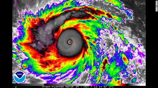 Super Typhoon Haiyan, one of strongest storms ever, heads for central Philippines