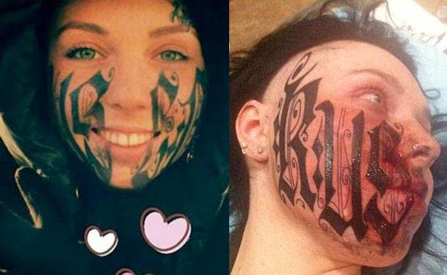 Girl Tattoos Girl Tattoos Russia On Her Face