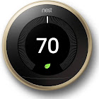 Nest Learning Thermostat, 3rd Generation Brass