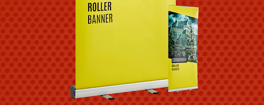 Print your Roller Banners. Upload your file or choose a design | Flyerzone