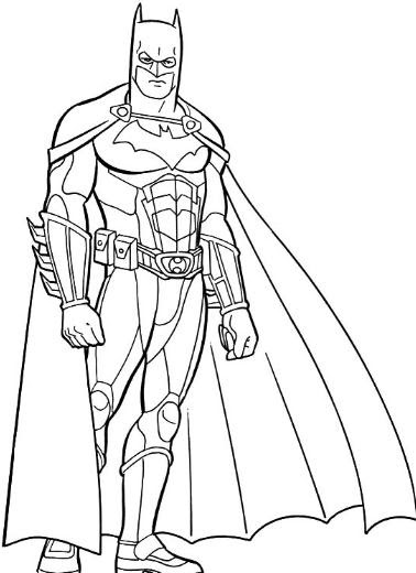 Dibujos De Batman Para Colorear A Lapiz A Color
