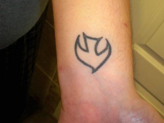 Wrist Bird Shape Tattoo Tattoomagz