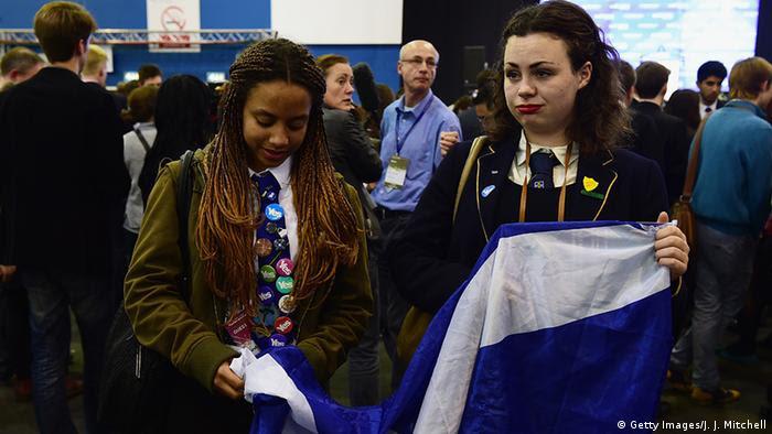 Großbritannien Schottland Unabhängigkeitsreferendum Reaktionen Yes (Getty Images/J. J. Mitchell)