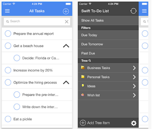 Swift To-Do List app for iPhone and Android released!