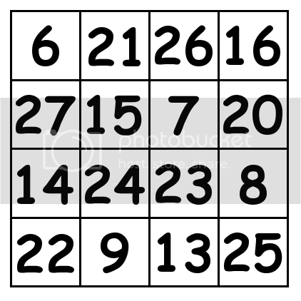 4 by 4 grid Solution 2