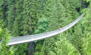 Jembatan Capilano Suspension Bridge di Northern Vancouver, Kanada
