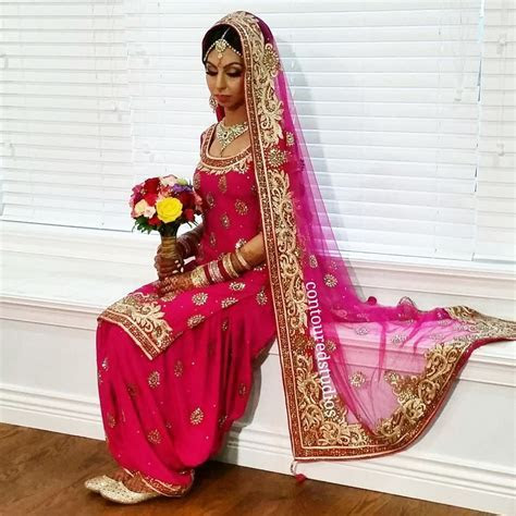 beautiful bride, Japleen wear traditional salwar suit