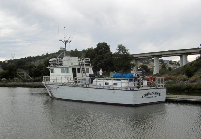SSS Compass Rose Moored in Petaluma Marina