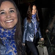 Pippa Middleton takes time out of promoting book for girls' evening with sister Kate... and even puppy Lupo comes too