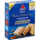 Atkins Protein Wafer Crisps, Peanut Butter - 5 pack, 1.27 oz bars