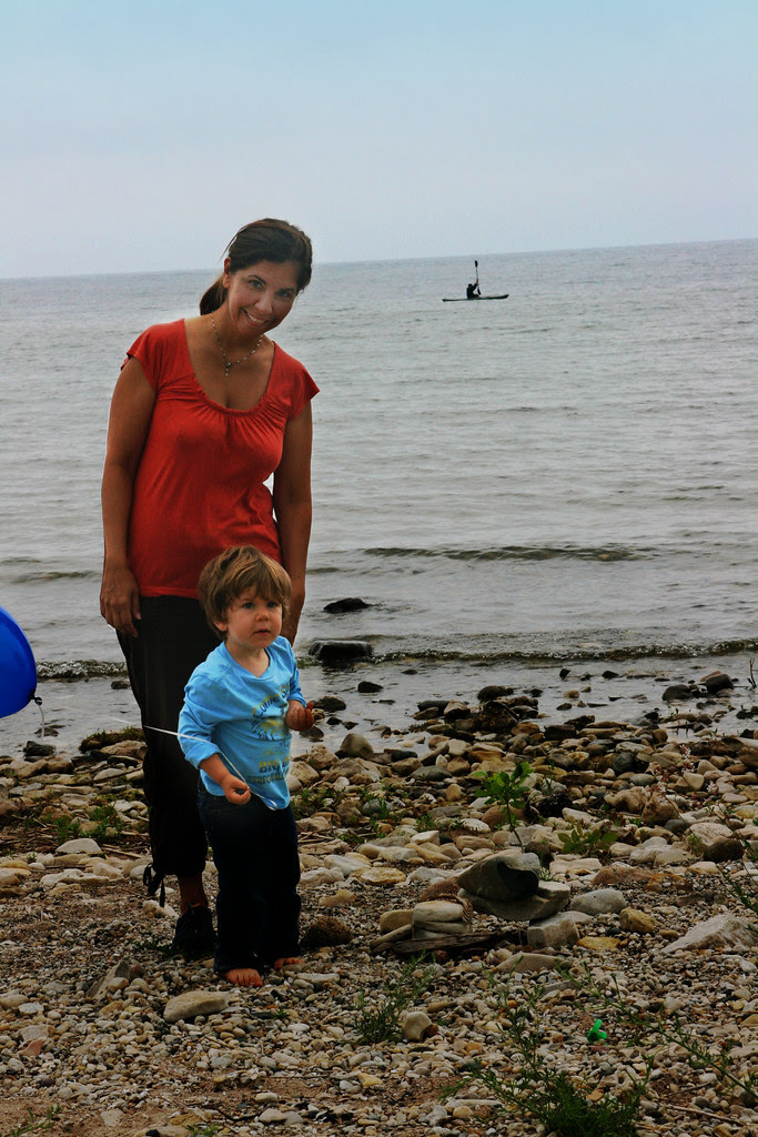 Mommy and Oliver at Ellison Bay Days
