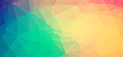 Colorful Low Polygon Background Banner, Low, Poly