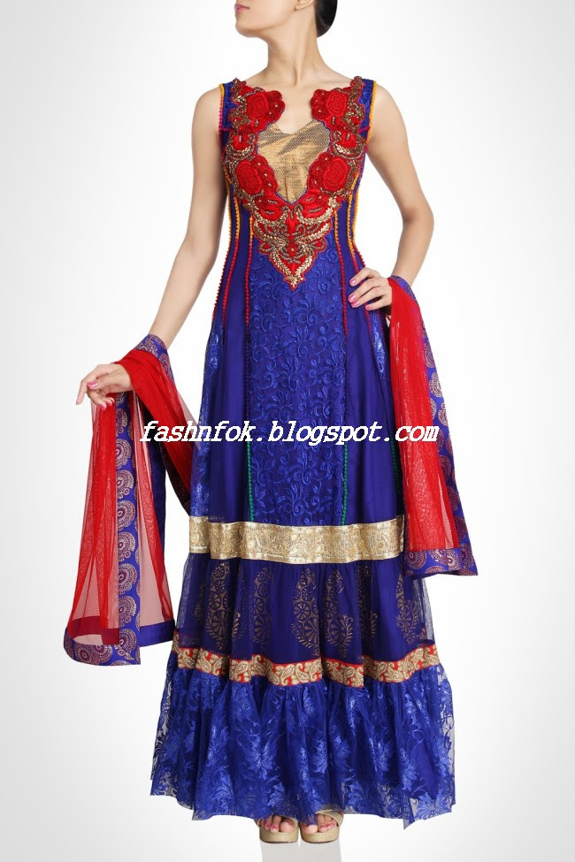 Amazing-Bridal-Wear-Indian-Fashionable-Dress-Designs-for-Cute-Girls-