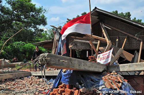 Ulah anarki kaum beragama, penghancuran Gereja HKBP Setu, Bekasi