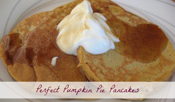 Pumpkin Pie Pancakes Recipe :: YummyMummyClub.ca