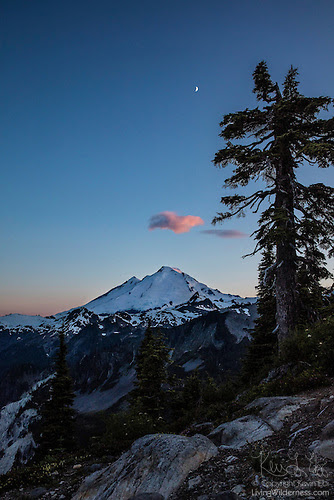 Crescent Moon Over Mount Baker, Artist Point, North Cascades, Washington