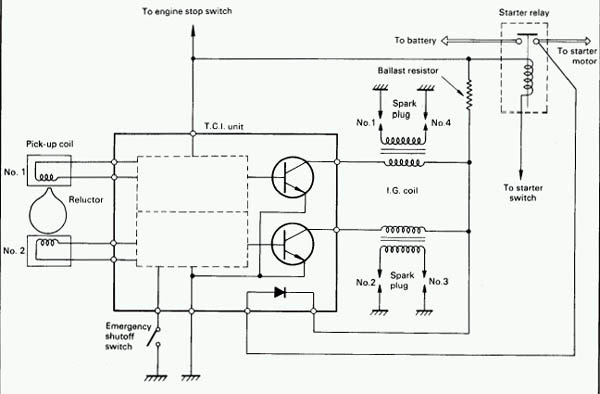 Simplified Wiring Diagram For 78 Yamaha 1100 Motorcycle