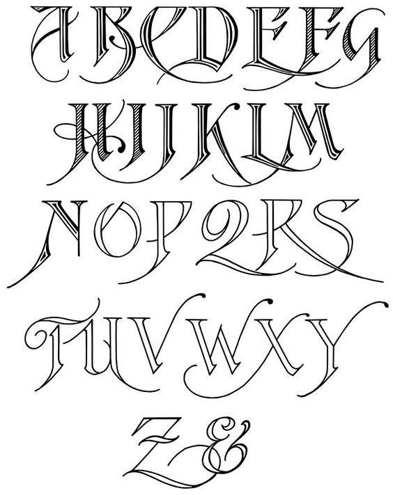 Como Escribir Letras Goticas Coloring J