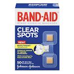 Band-Aid Adhesive Bandages, Clear Spots - 50 Ea