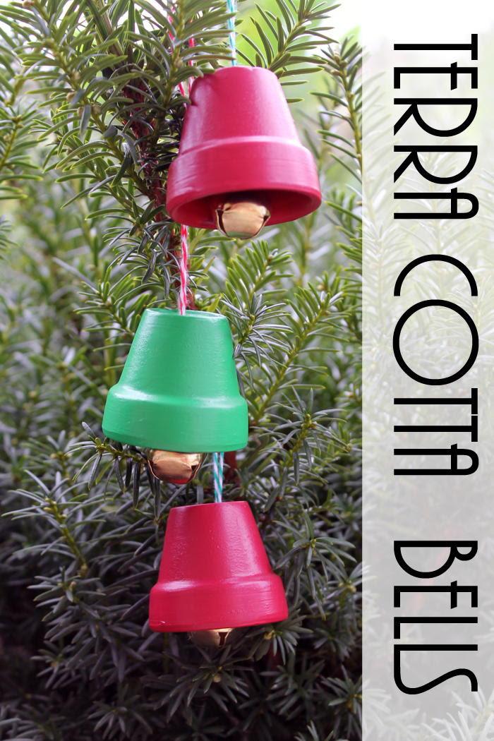 Terra Cotta Bells DIY Christmas Ornaments FaveCrafts com