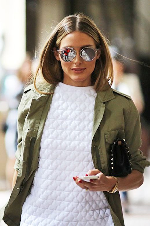 2 Le Fashion Blog 15 Ways To Wear A Green Army Jacket Olivia Palermo Street Style Mirrored Sunglasses Via Teen Vogue photo 2-Le-Fashion-Blog-15-Ways-To-Wear-A-Green-Army-Jacket-Olivia-Palermo-Street-Style-Mirrored-Sunglasses-Via-Teen-Vogue.jpg