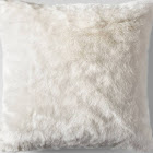 Cream Faux Fur Oversized Throw Pillow - Threshold , Ivory
