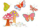 Childrens butterfly painting butterfly art kids by GardenHomeArt