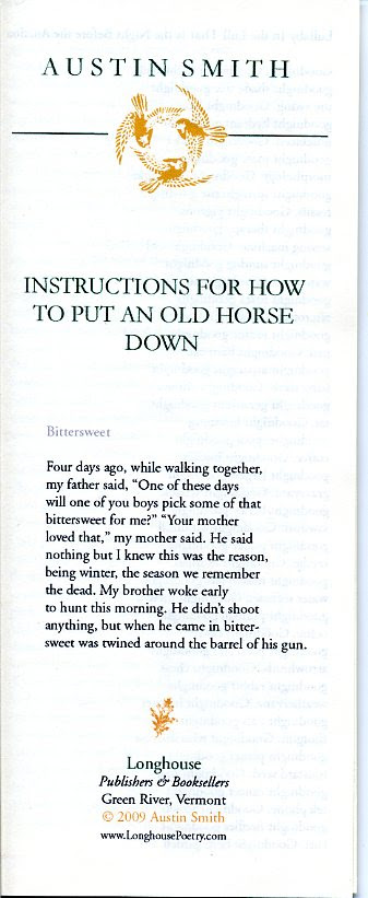 Instructions For How To Put An Old Horse Down