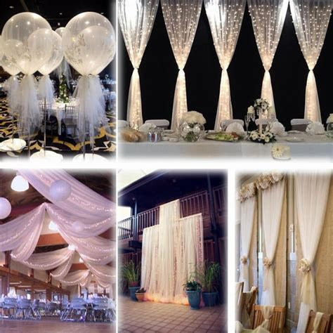 "White 54""x120 Ft (40 Yards) Tulle Bolt Wedding Decoration"
