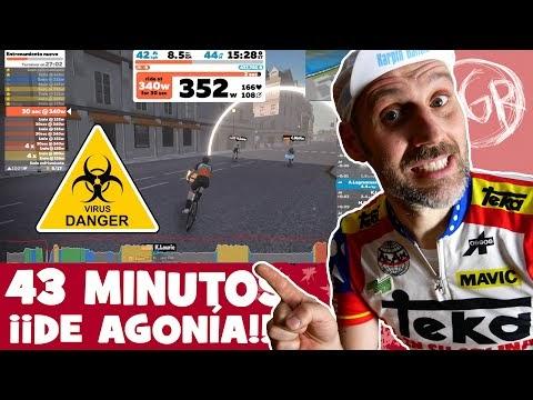 Cuarentena de Rodillo... 43 MINUTOS DE AGONÍA en ZWIFT!!... NOS QUEDAMOS EN CASA, ENTRENAMOS JUNTOS! - Alfonso Blanco